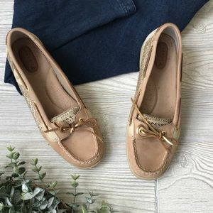 SPERRY   GOLD GLITTER ANGELFISH Boat Shoes